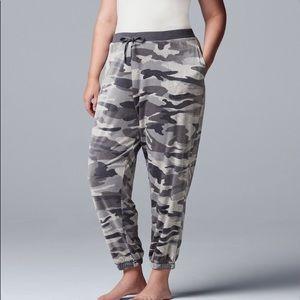 NEW Vera Wang Plush Pajama Pants 1X